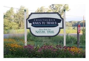 Chautauqua Rails to Trails Sign