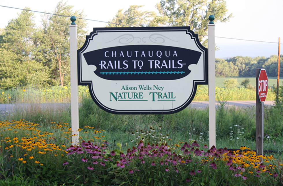Chautauqua Rails to Trails Sign